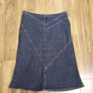 Lux Blue Jean Skirt